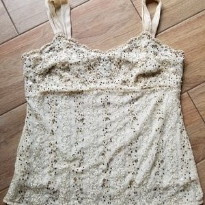 Ann Taylor beaded lace camisole